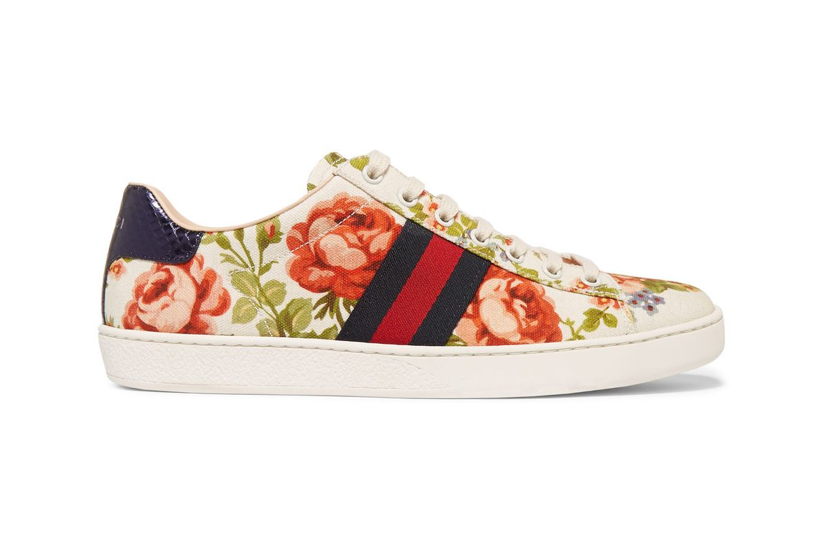 New Ace floral-print canvas sneakers