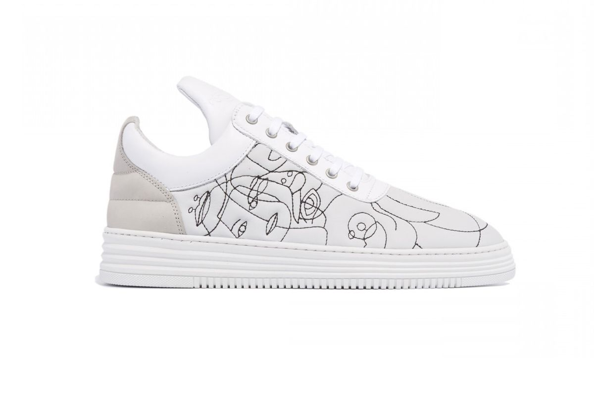 Low Top Embroidery White