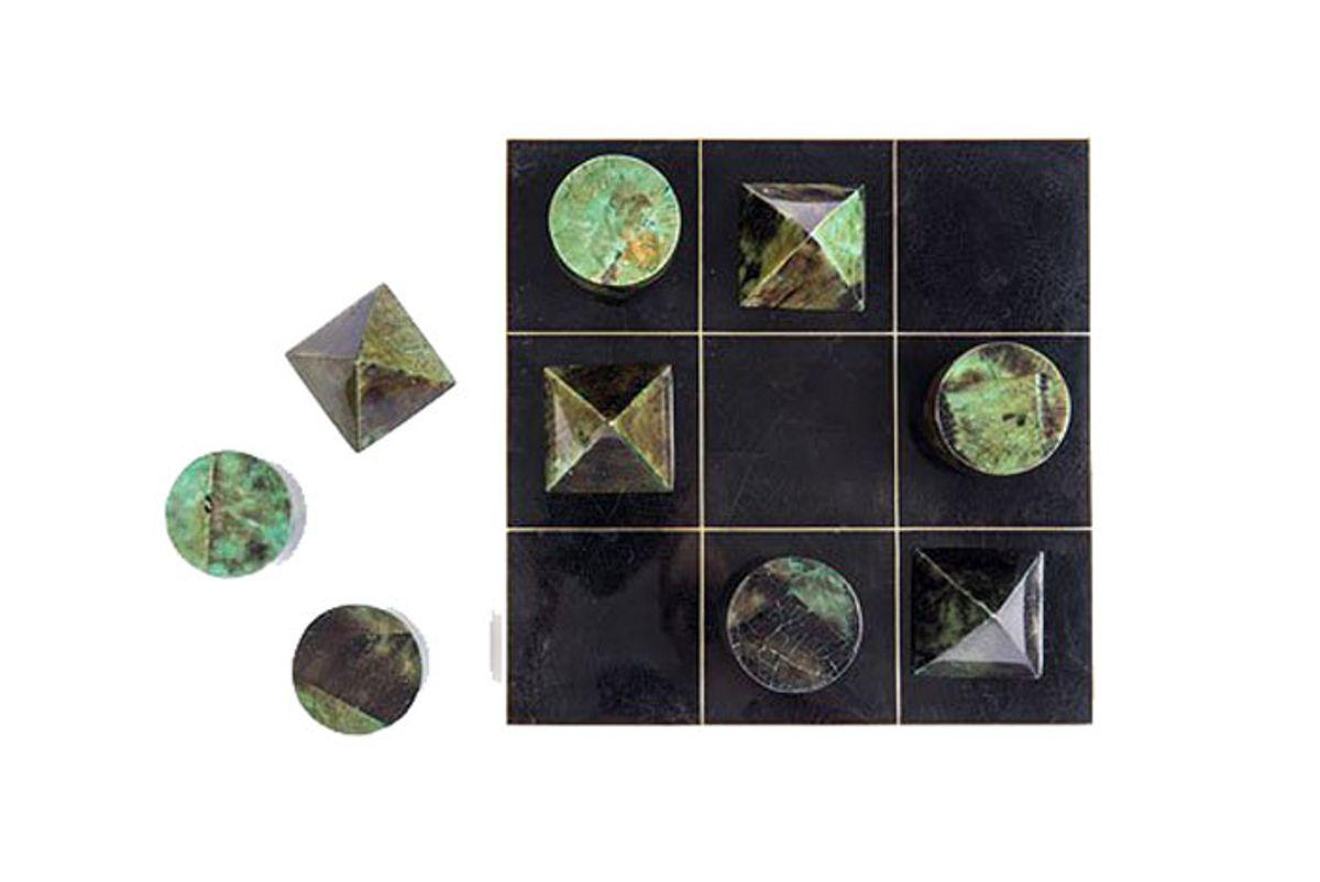 Brass & Shell Tic Tac Toe set