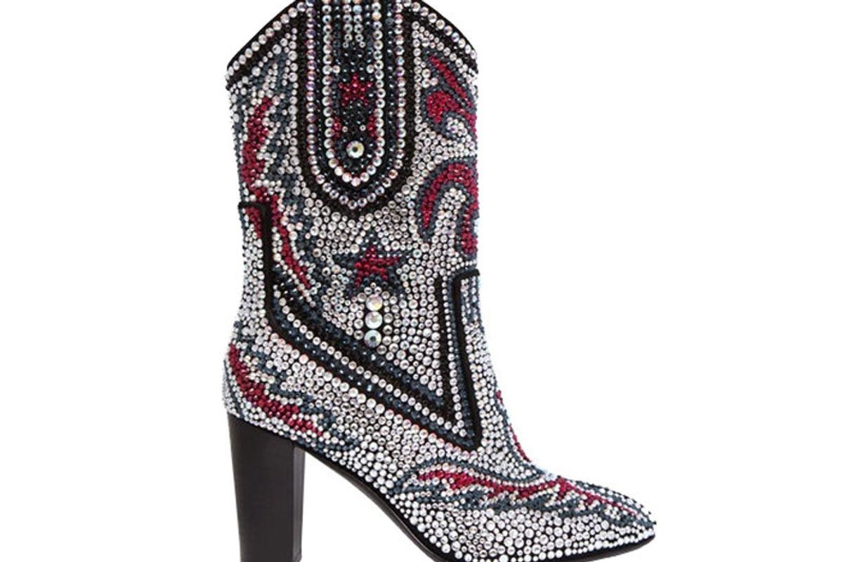 Swarovski Embellished Suede Boots
