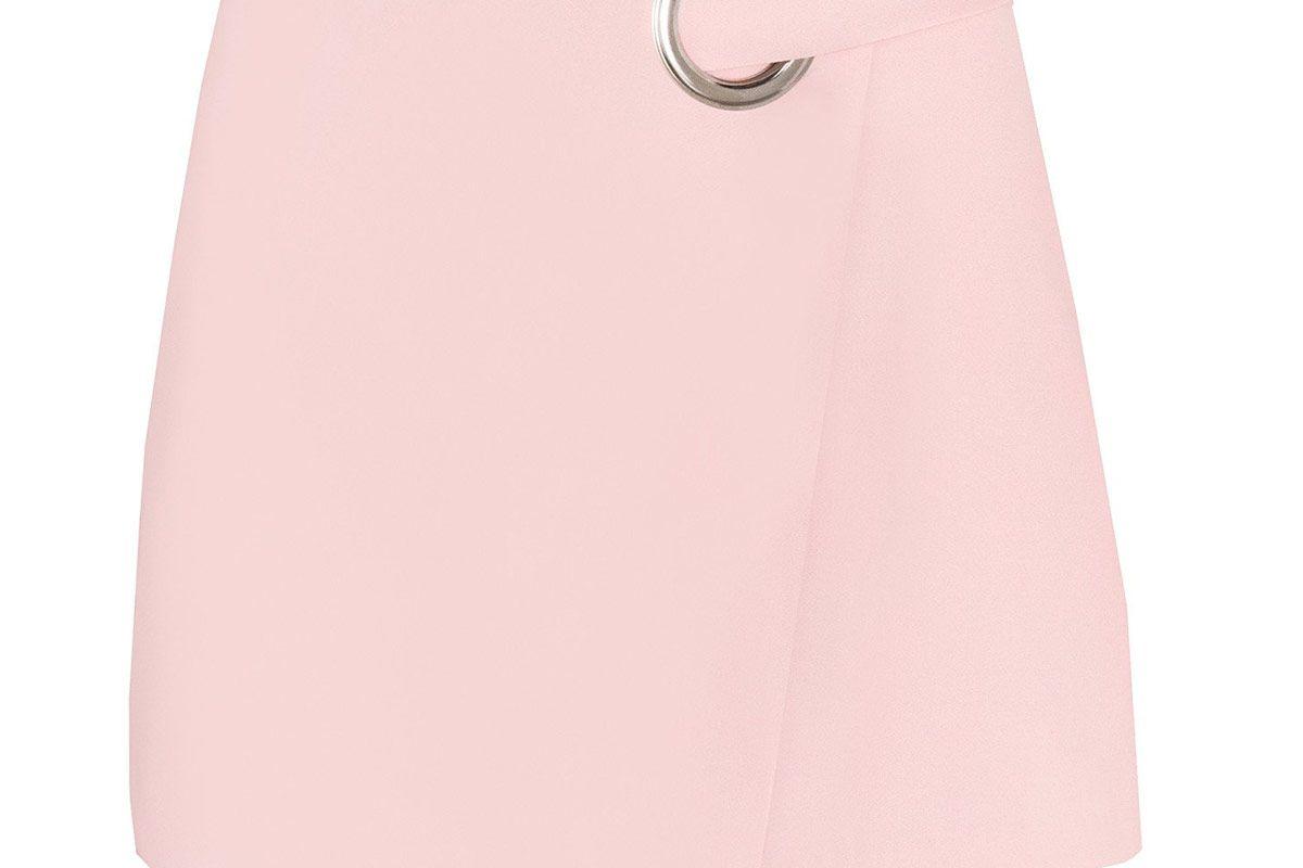 Pink Ring Wrap Mini Skirt