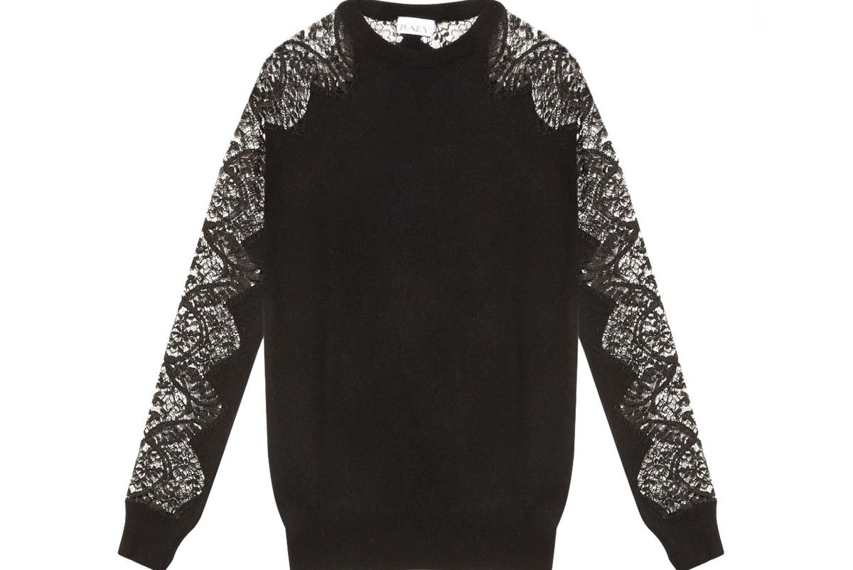 Lace Sleeves Cashmere Sweater