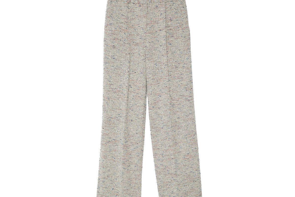 Multicolor Tweed Wide-Leg Pant