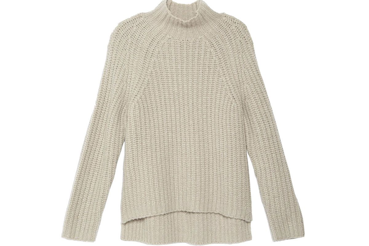 Boucle Mock Sweater