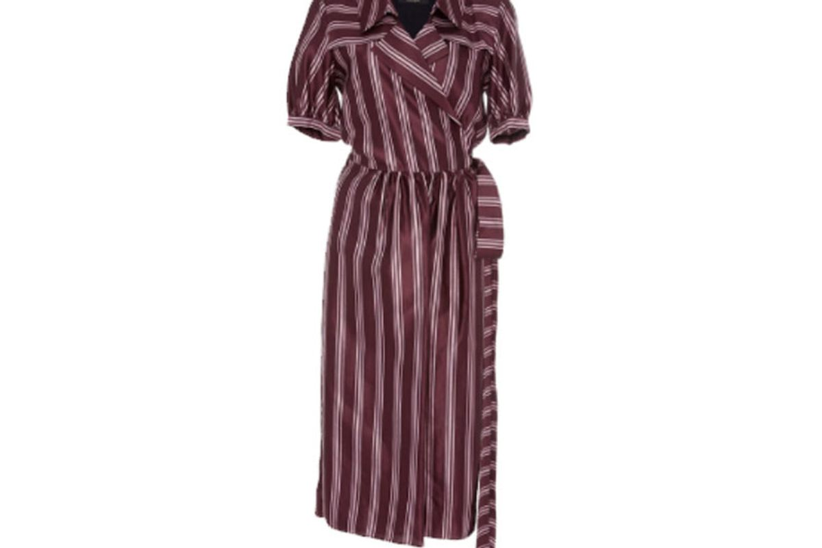Panama Stripe Robe Dress