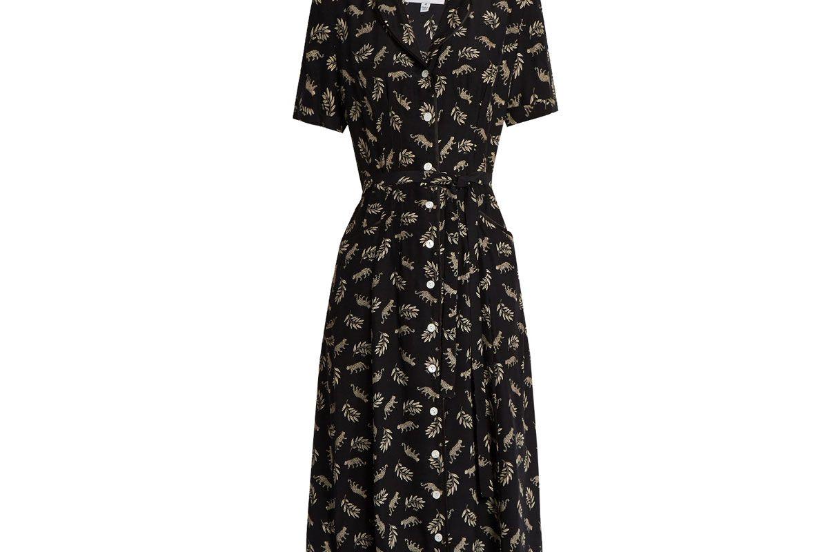 Maria Leopard-Print Silk Dress