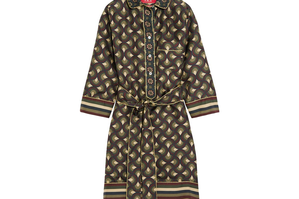Galatea Printed Silk-Twill Mini Dress