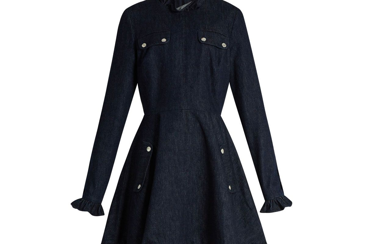 Ruffled Denim Dress