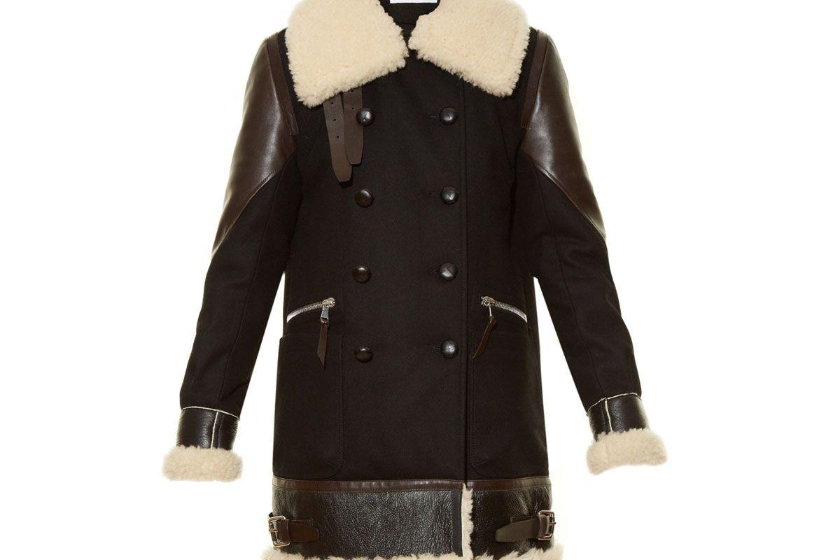 Ismir Shearling-Trimmed Wool-Blend Coat