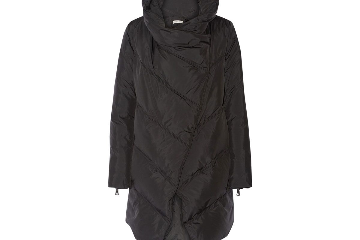 Vickie Asymmetric Quilted Shell Down Jacket