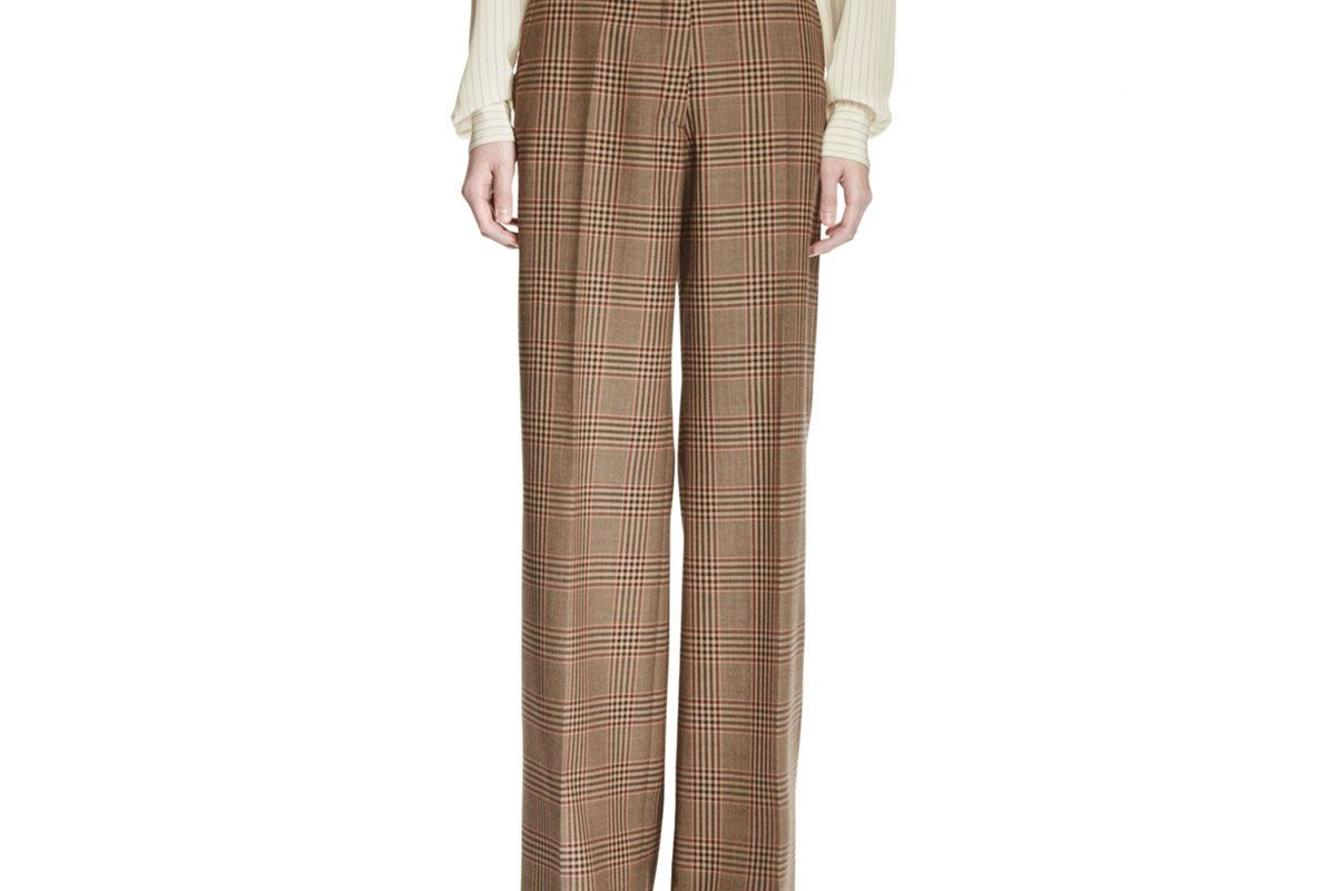 Poiret Plaid Wide-Leg Pants