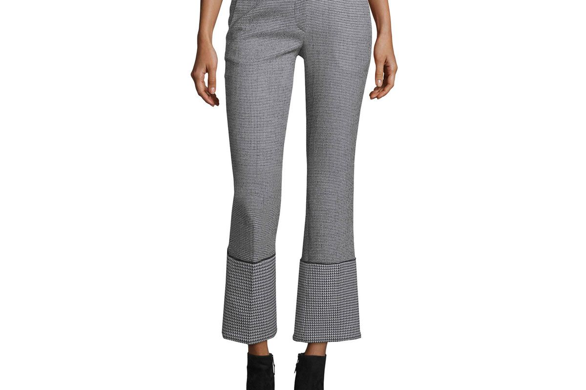 Cuffed Houndstooth Pants