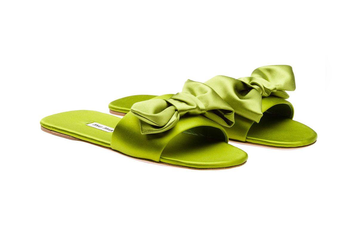 Satin Slide Sandals