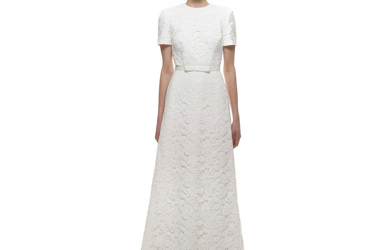 White Rose Bridal Dress