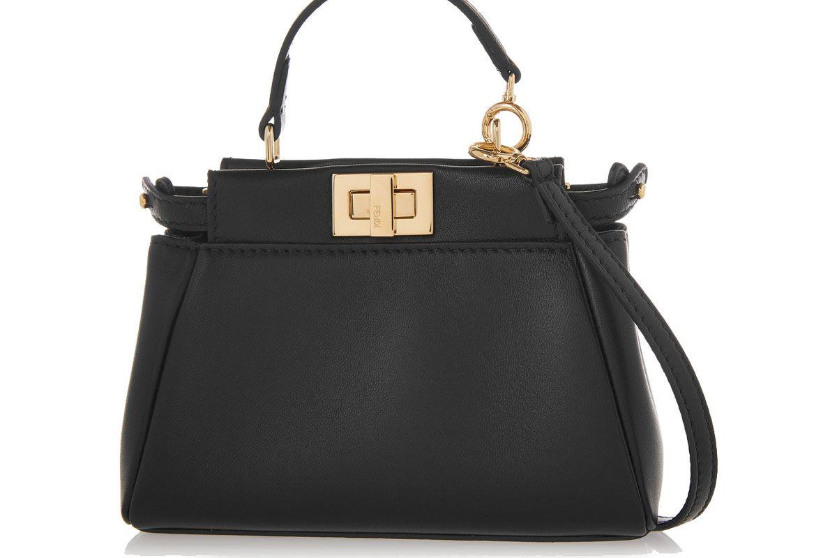 Peekaboo Micro Leather Shoulder Bag