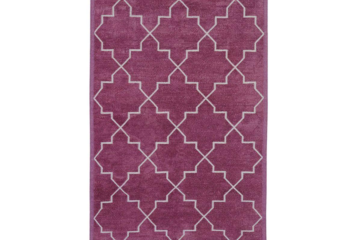 Purple Brooke Chenille Metallic Carpet