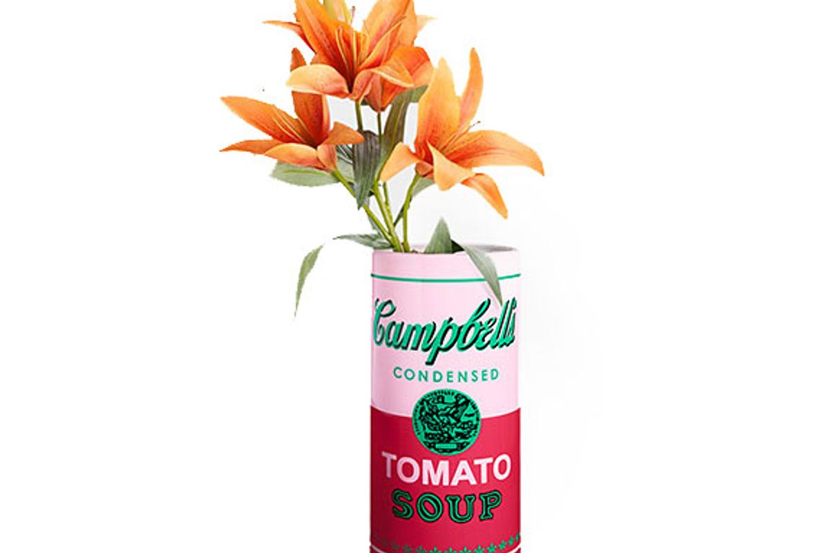 Andy Warhol Soup Can Vase