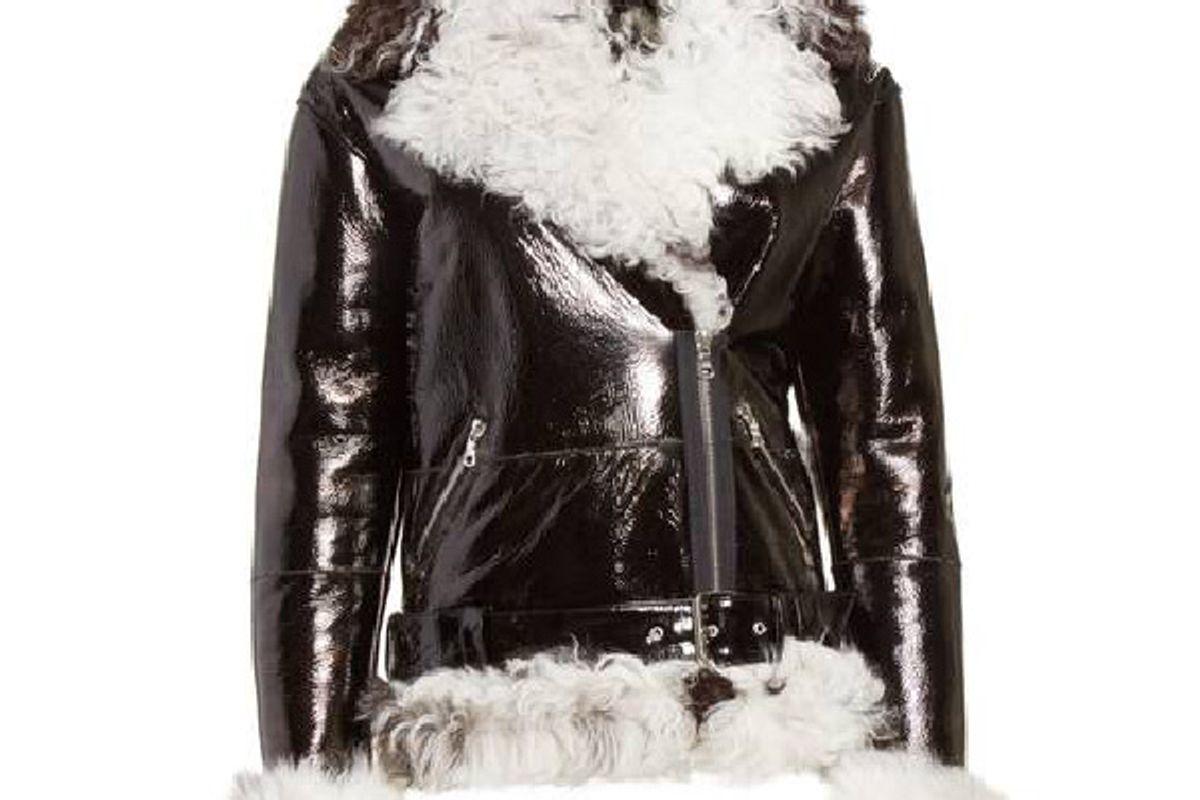 Bowery Genuine Shearling Moto Jacket
