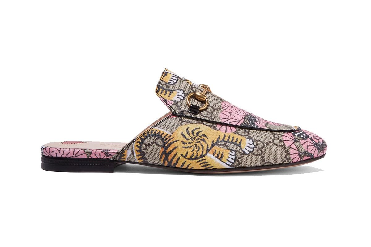 Princetown Printed Coated-Canvas Slippers