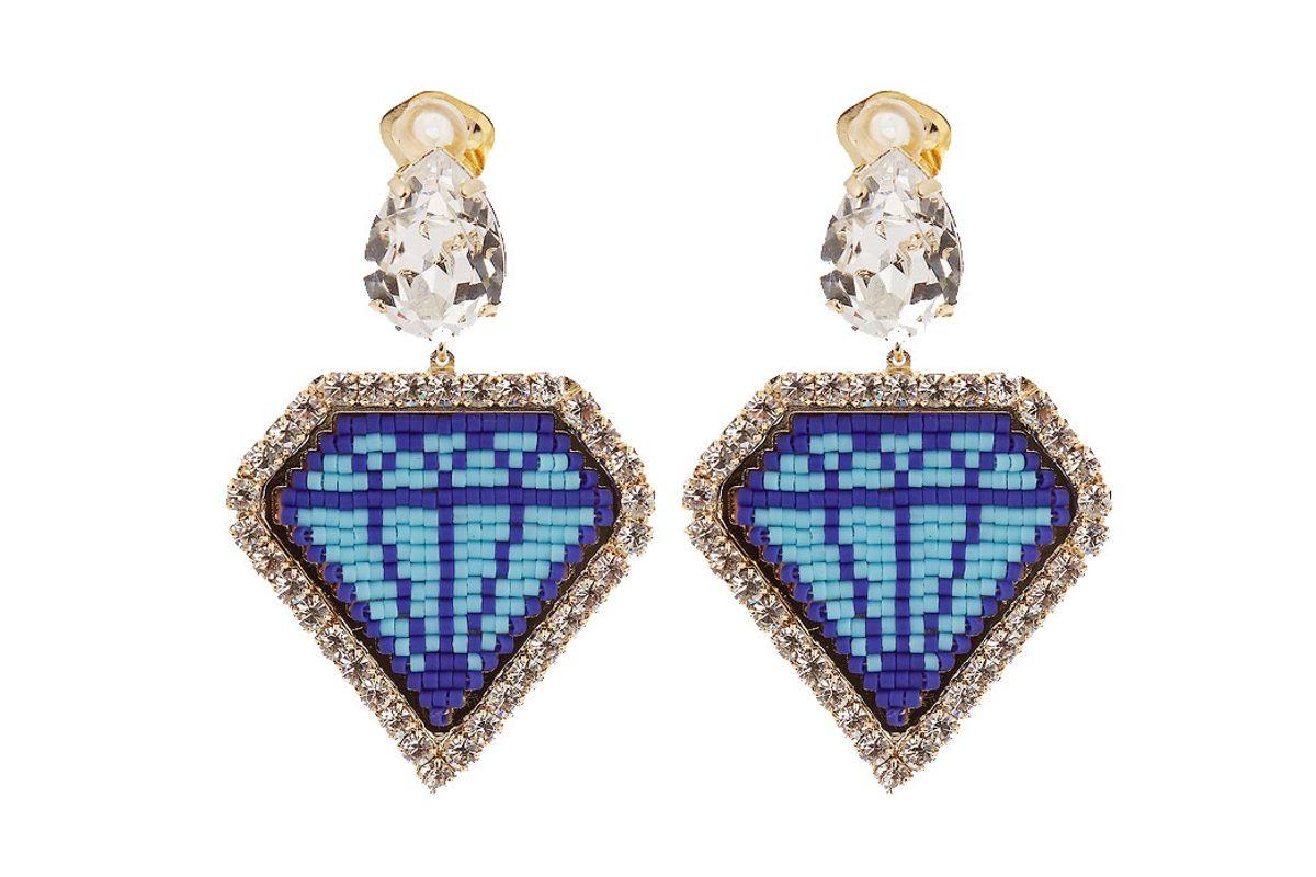 Emojibling Diamond-Motif Earrings