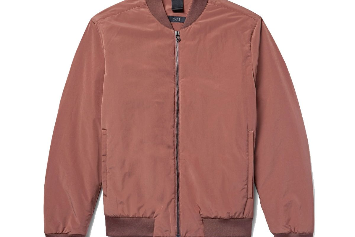 Peached-Shell Bomber Jacket