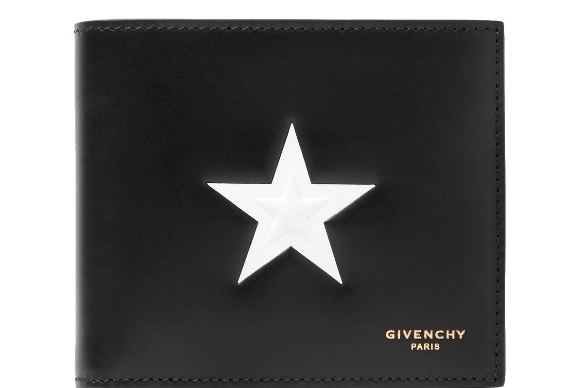 Star-Embossed Leather Billfold Wallet