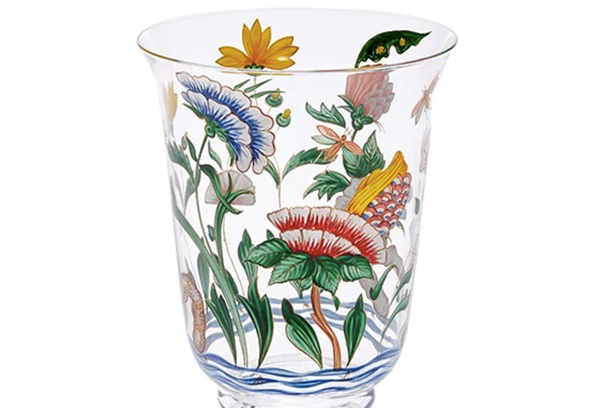 Chinese Handpainted Floral Tumbler