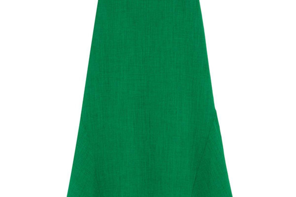 Asymmetric voile midi skirt