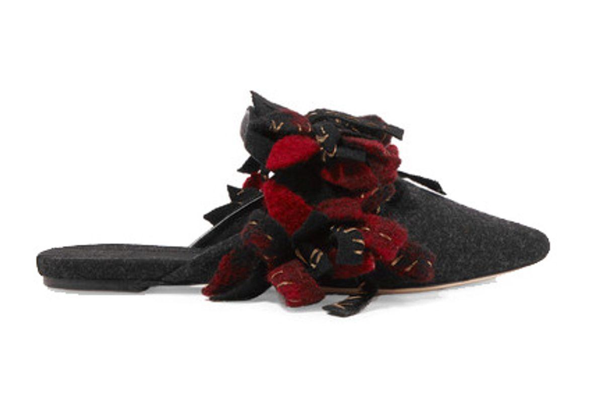 Addobbi Embellished Wool Slippers