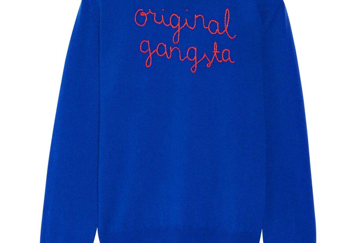 Original Gangsta Embroidered Cashmere Sweater