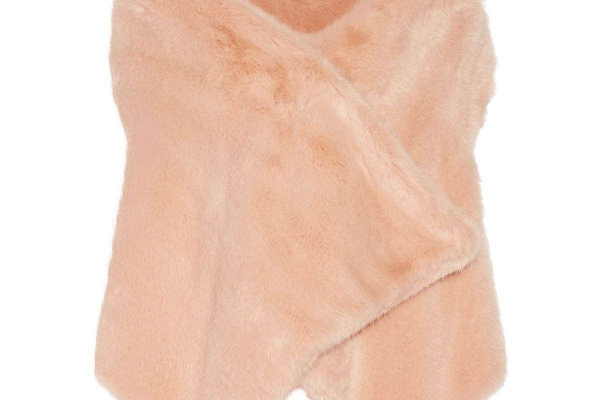 Asymmetric Faux Fur Vest