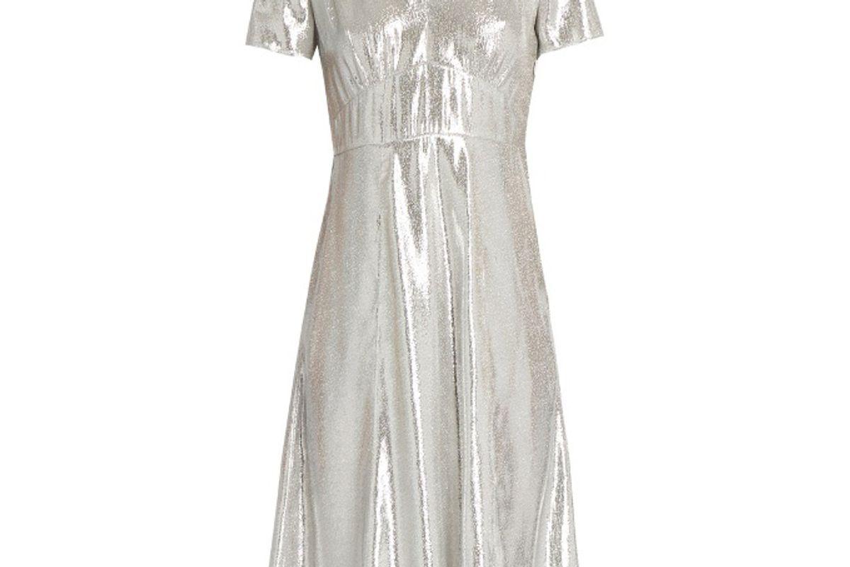 Metallic Silver Morgan Dress