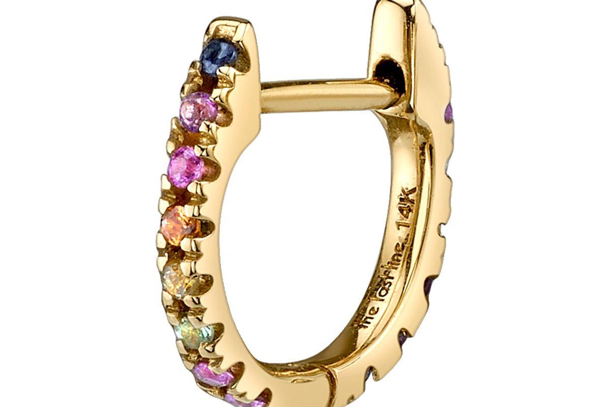 Medium Rainbow Huggie Earring