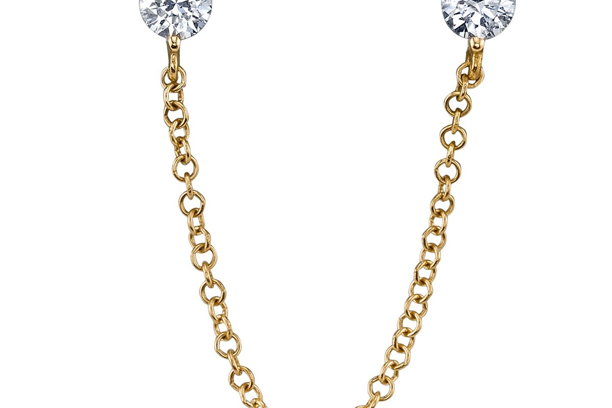 Diamond Connected Stud Earring