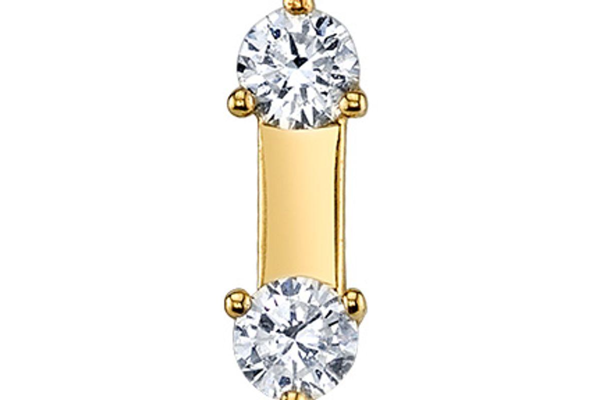Diamond Small Prong Set Line Earring