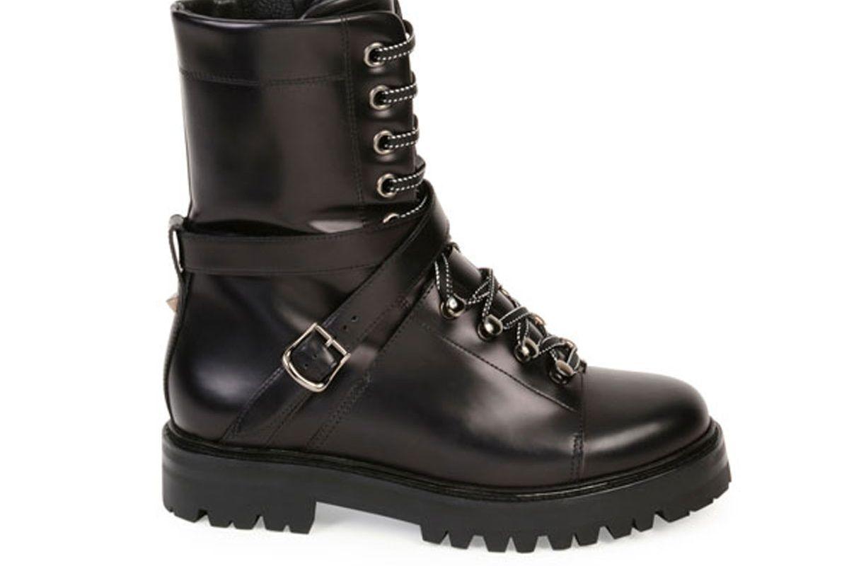 Rockstud Leather Combat Boot