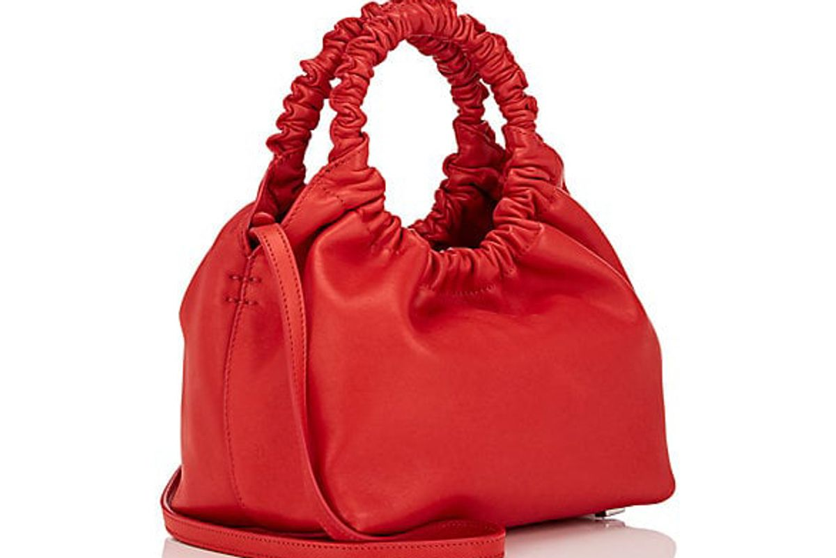 the row double circle leather small bag