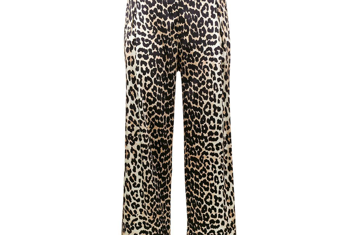 Dufort leopard print wide-leg trousers