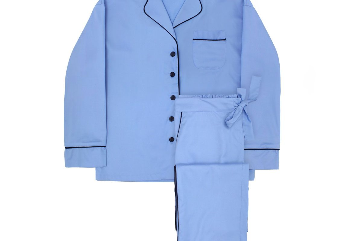 Maria Blue Pajama Set with Pants