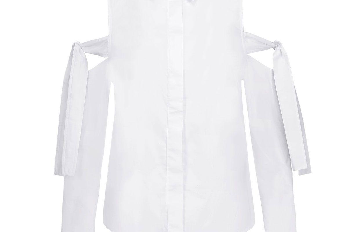 Cutout Cotton-Poplin Top