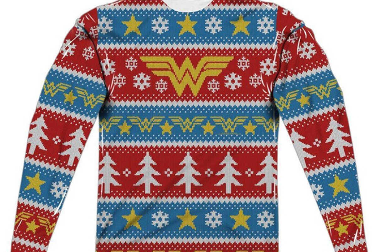 Wonder Woman Ugly Christmas Sweater Shirt
