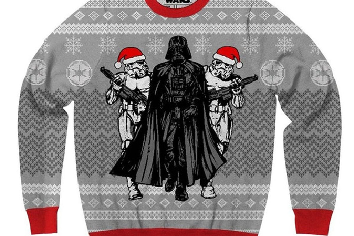 Star Wars Darth Vader and Stormtrooper Elves Ugly Christmas Sweater