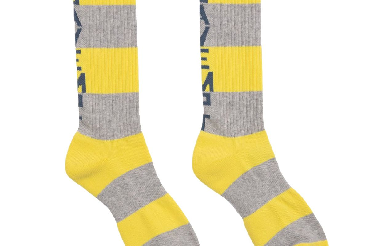 ce cav empt fw19 striped socks yellow