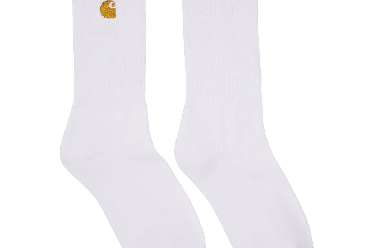 carhartt work in progress white chase socks