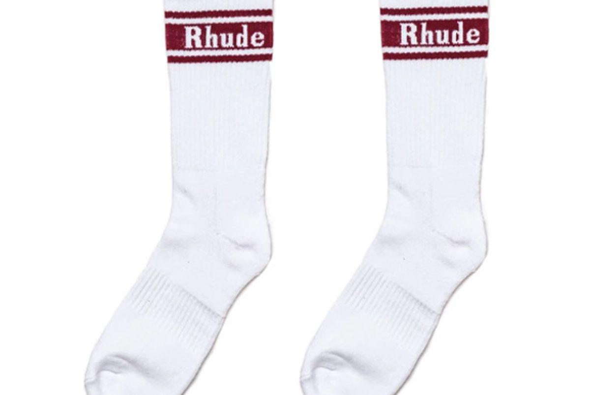 rhude striped socks