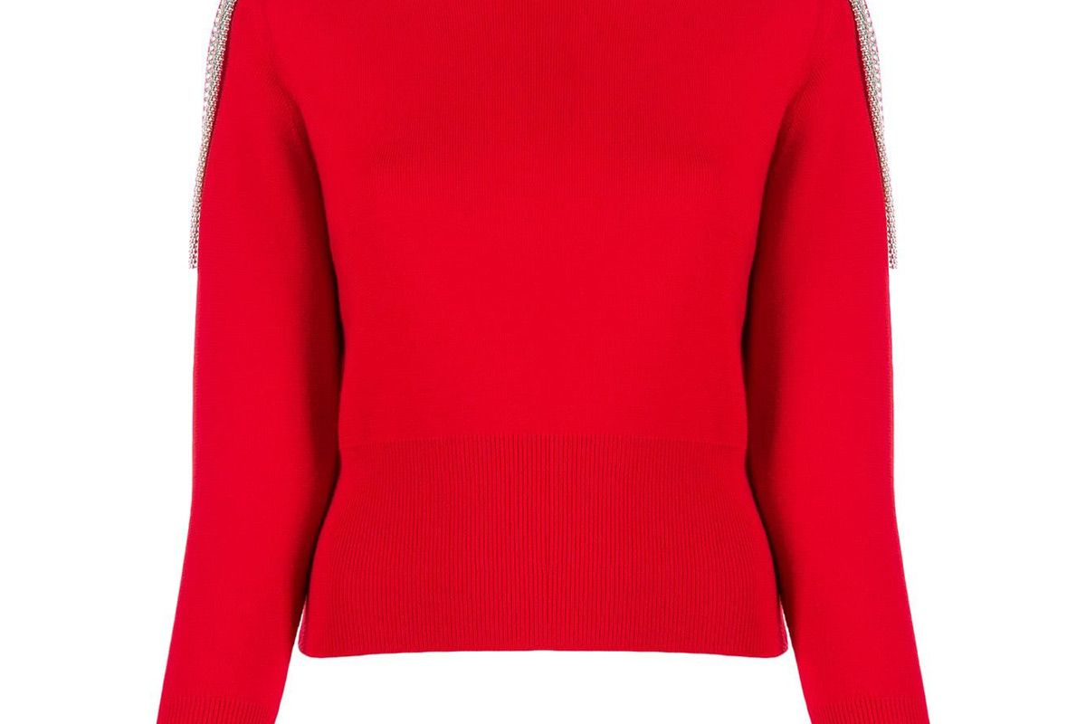 christopher kane chain detail cropped sweater