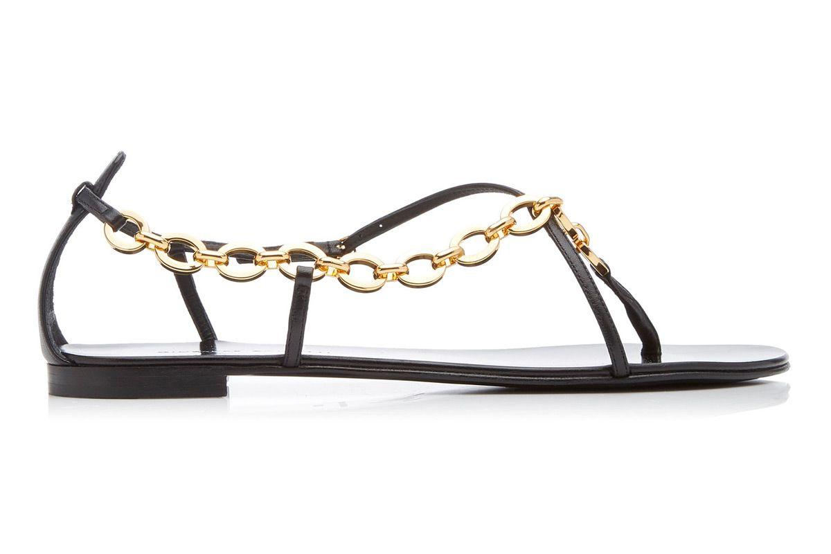 giuseppe zanotti chain embellished leather sandals
