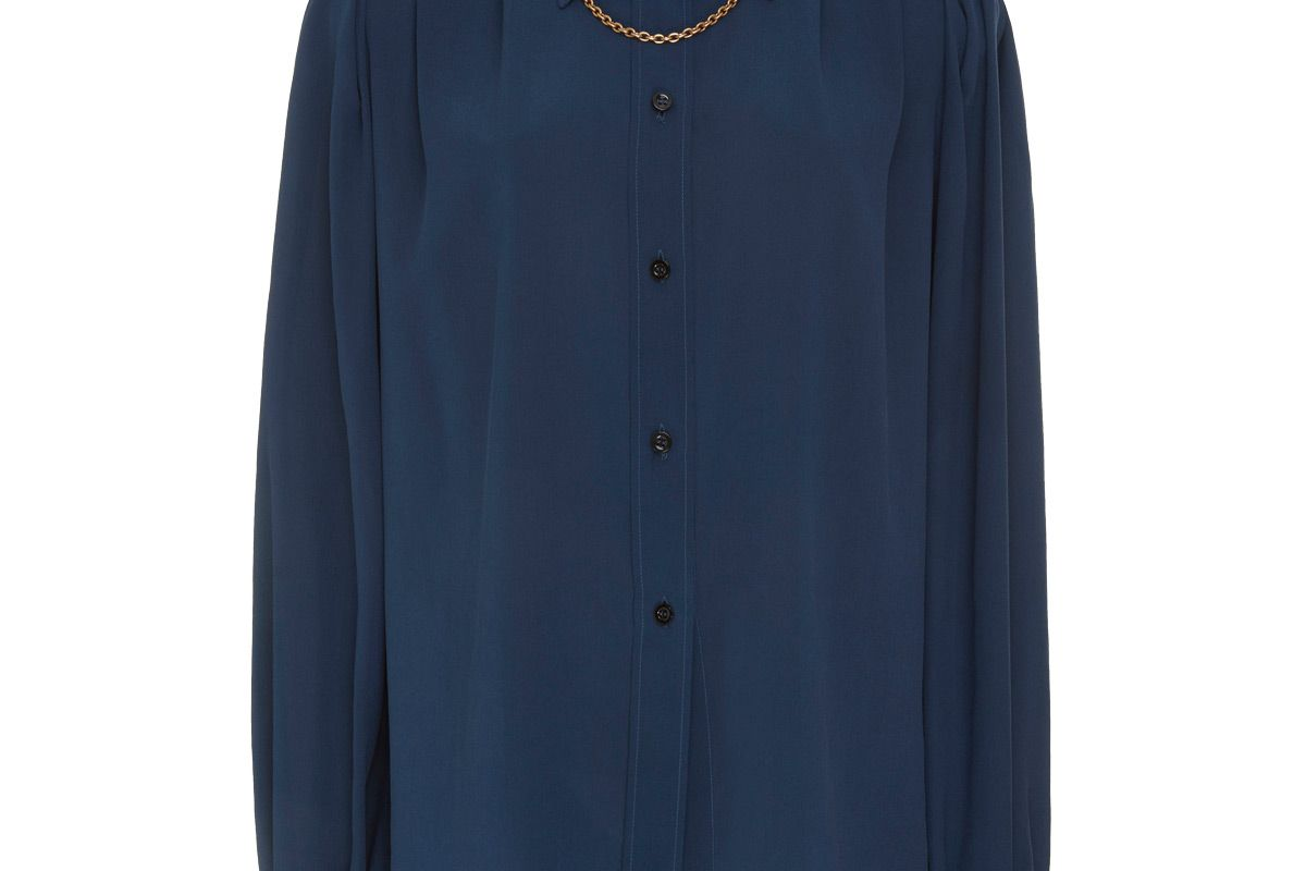 givenchy chain embellished silk crepe de chine shirt