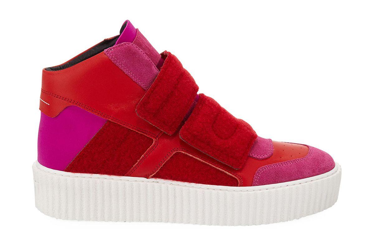 mm6 maison martin margiela colorblock platform high top sneaker