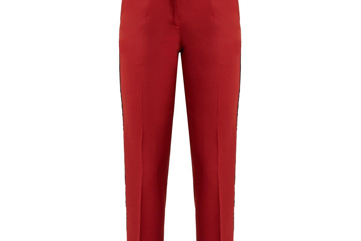 Aries contrast-stripe slim-leg wool trousers